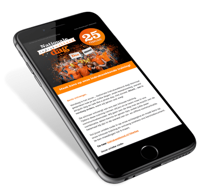De indrukwekkenddag website mobile responsive