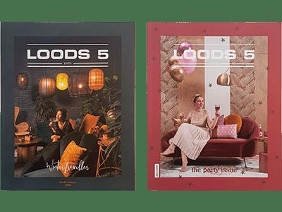 Loods 5 magazines geproduceerd door indrukwekkend